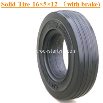 Solid Lifting Platform Tires  16×5×12 (With brake)